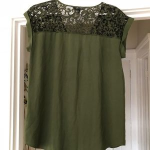 Express Tops - Green blouse